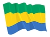 Vector clipart: waving flag of Gabon