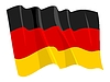 Vector clipart: waving flag of Germany