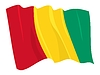 Vector clipart: waving flag of Guinea