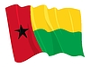 Vector clipart: waving flag of Guinea-Bissau