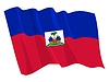 Vector clipart: waving flag of Haiti