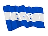 Vector clipart: waving flag of Honduras