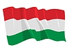 Vector clipart: waving flag of Hungary