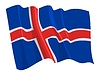 Vector clipart: waving flag of Iceland