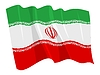 Vector clipart: waving flag of Iran