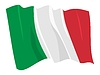 Waving flag of Italy | Stock Vector Graphics