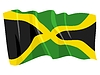Vector clipart: waving flag of Jamaica