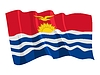 Vector clipart: waving flag of Kiribati