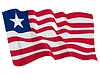 Vector clipart: waving flag of Liberia