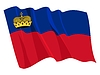 Vector clipart: waving flag of Liechtenstein