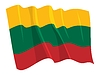 Vector clipart: waving flag of Lithuania
