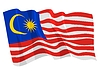 Vector clipart: waving flag of Malaysia
