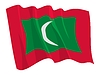 Vector clipart: waving flag of Maldives