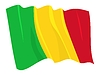 Waving flag of Mali | Stock Vector Graphics