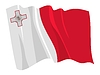 Vector clipart: waving flag of Malta