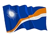 Vector clipart: waving flag of Marshall Islands