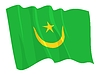 Vector clipart: waving flag of Mauritania
