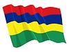 Vector clipart: waving flag of Mauritius