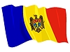 Vector clipart: waving flag of Moldova