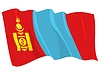 Vector clipart: waving flag of Mongolia