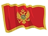Vector clipart: waving flag of Montenegro