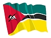 Vector clipart: waving flag of Mozambique