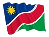 Vector clipart: waving flag of Namibia