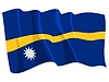 Vector clipart: waving flag of Nauru