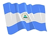 Vector clipart: waving flag of Nicaragua