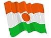 Vector clipart: waving flag of Niger