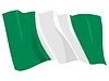 Vector clipart: waving flag of Nigeria
