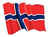 Waving flag of Norway | Stock Vector Graphics