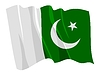 Vector clipart: waving flag of Pakistan