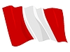 Vector clipart: waving flag of Peru