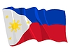 waving flag of Philippines