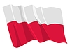 Vector clipart: waving flag of Poland