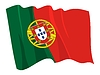 Waving flag of Portugal | Stock Vector Graphics