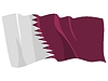 Waving flag of Qatar | Stock Vector Graphics