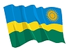 Vector clipart: waving flag of Rwanda