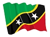 Vector clipart: waving flag of Saint Kitts and Nevis