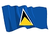 Vector clipart: waving flag of Saint Lucia