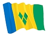 Vector clipart: waving flag of Saint Vincent and Grenadines