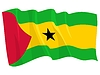 Vector clipart: waving flag of Sao Tome and Principe