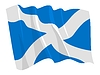Vector clipart: waving flag of Scotland