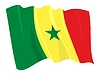 Vector clipart: waving flag of Senegal