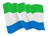 Vector clipart: waving flag of Sierra Leone