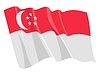 Waving flag of Singapore | Stock Vector Graphics