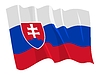 Waving flag of Slovakia | Stock Vector Graphics