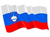 Vector clipart: waving flag of Slovenia