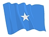 Vector clipart: waving flag of Somalia